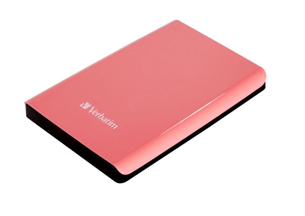 Pevný disk Verbatim Store 039n039 Go 1 TB Pevný disk, externí, 2,5, 5400RPM, USB 3.0, růžový, blister 53173