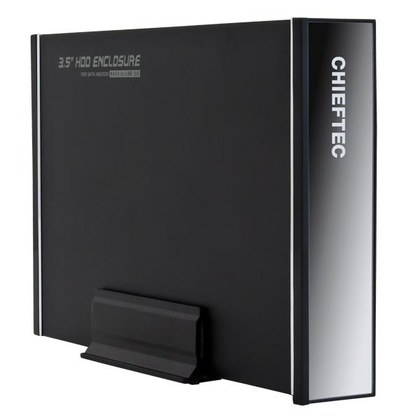 Box na disk CHIEFTEC CEB-7035S Box na disk, externí, 1x 3,5 SATA HDD, USB 3.0, hliníkový, černý CEB-7035S