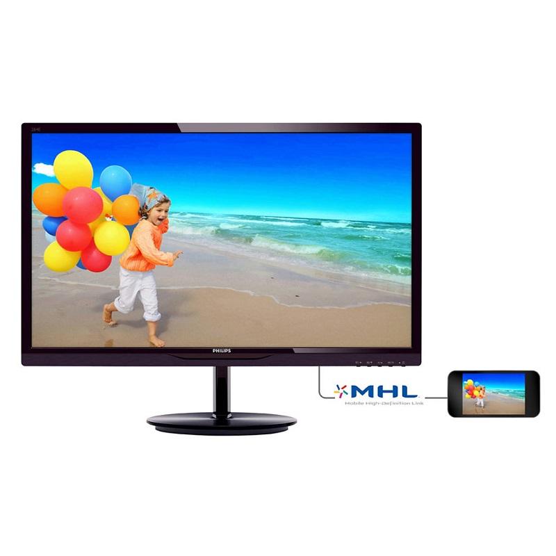 LED monitor PHILIPS 284E5QHAD 28 LED monitor, 1920x1080, 20M:1, 4ms, D-Sub, HDMI, MHL, repro 284E5QHAD/00