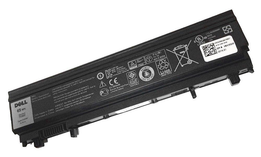 Baterie pro notebooky Dell Latitude E5440, E5540 Baterie, 6-článková, 65 Wh, pro Latitude E5440, E5540 451-BBIE