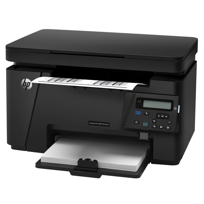 Multifunkční tiskárna HP LaserJet Pro M125nw Černobílá multifunkční laserová tiskárna, A4, print+scan+copy, LAN, WL, černá CZ173A