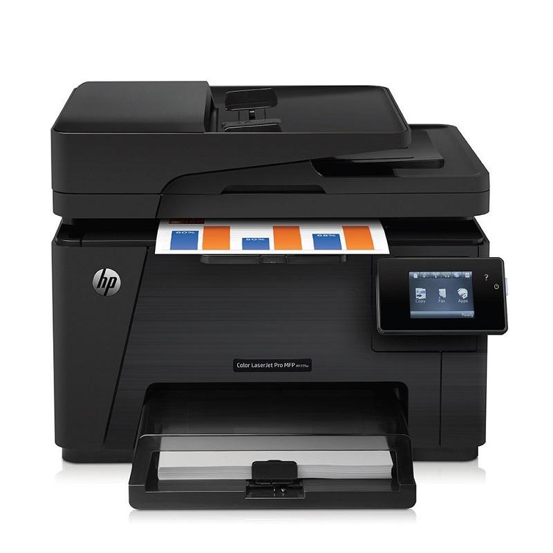 Multifunkční tiskárna HP LaserJet Pro MFP M177fw Barevná multifunkční laserová tiskárna, A4, print+scan+copy+fax, 600x600, LAN, WL, dotykový panel, černá CZ165A