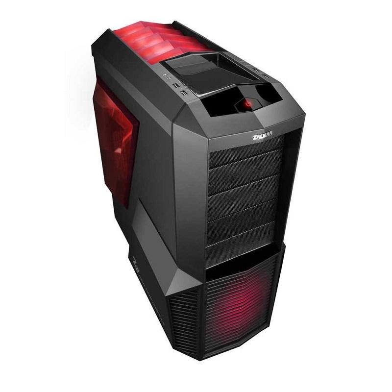 Skříň ZALMAN Mid Tower Z11 PLUS Skříň, Middle Tower, bez zdroje, černočervená, 2x USB3.0, 1x 120mm LED fan Z11 PLUS HF1