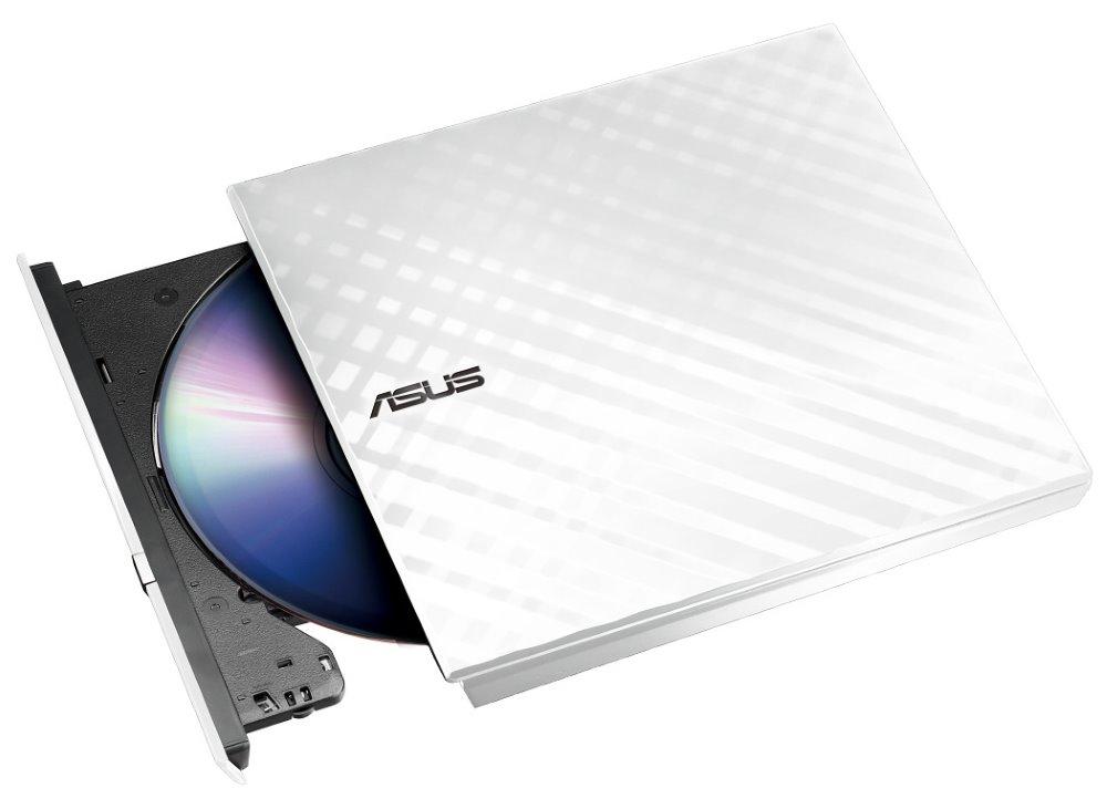 DVD mechanika ASUS SDRW-08D2S-U DVD mechanika, externí, slim, bílá, USB 90-DQ0436-UA221KZ