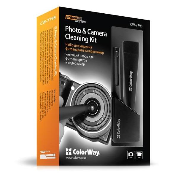 Čistící sada Colorway pro fotoaparáty a kamery Čistící sada, profesionální, pro fotoaparáty, kamery CW-7798