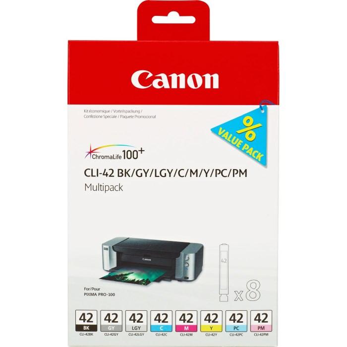 Canon multipack inkoustových náplní CLI-42 - 8 inkoustů