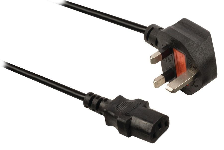 Kabel VALUELINE UK na C13 Kabel, napájecí, UK - IEC-320-C13, 1,8 m, pro PC, monitor, černý CABLE-732-1.8