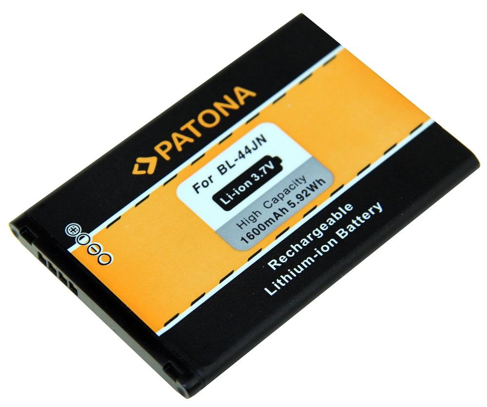 Baterie PATONA kompatibilní s LG BL-44JN 1600mAh Baterie, pro mobilní telefon, BL-44JN, 1600mAh, 3.7V, Li-Ion, LG Optimus Black P970, LG Optimus Hub E510, LG Optimus L1 II E410, LG Optimus L3 PT3062
