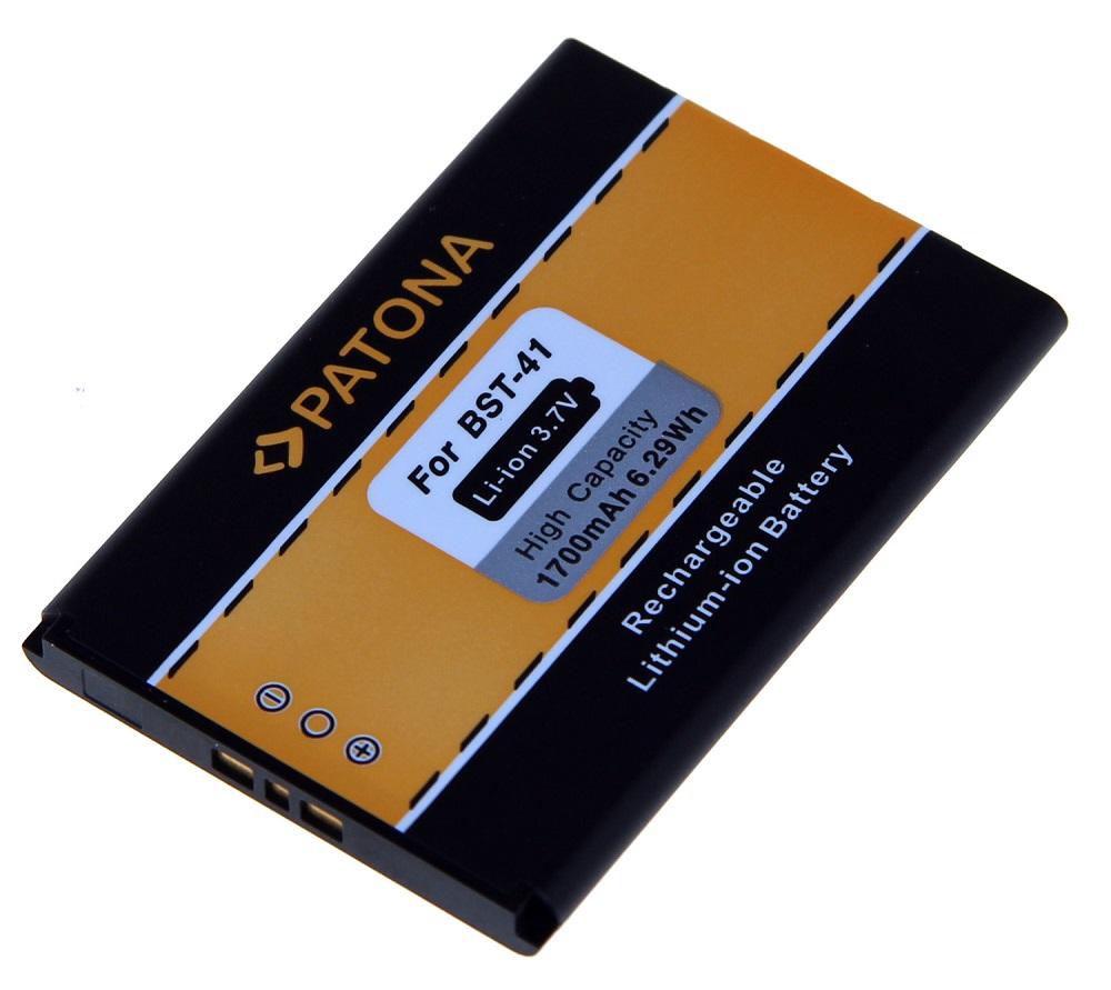 Baterie PATONA kompatibilní s Sony Ericsson BST-41 Baterie, pro mobilní telefon, BST-41, 1700mAh 3,7V Li-Ion, pro Sony Ericsson Xperia X1, Sony Ericsson Xperia X2, Sony Ericsson Xperia X10, Sony Ericss PT3070