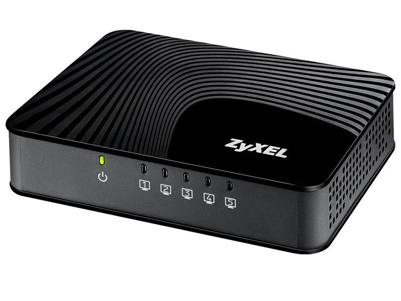 Switch ZyXEL GS-105Sv2 Switch, 5-port, 10/100/1000 Mb, 3 QoS porty, 802.3az Green, desktop, plastový kryt GS-105SV2-EU0101F