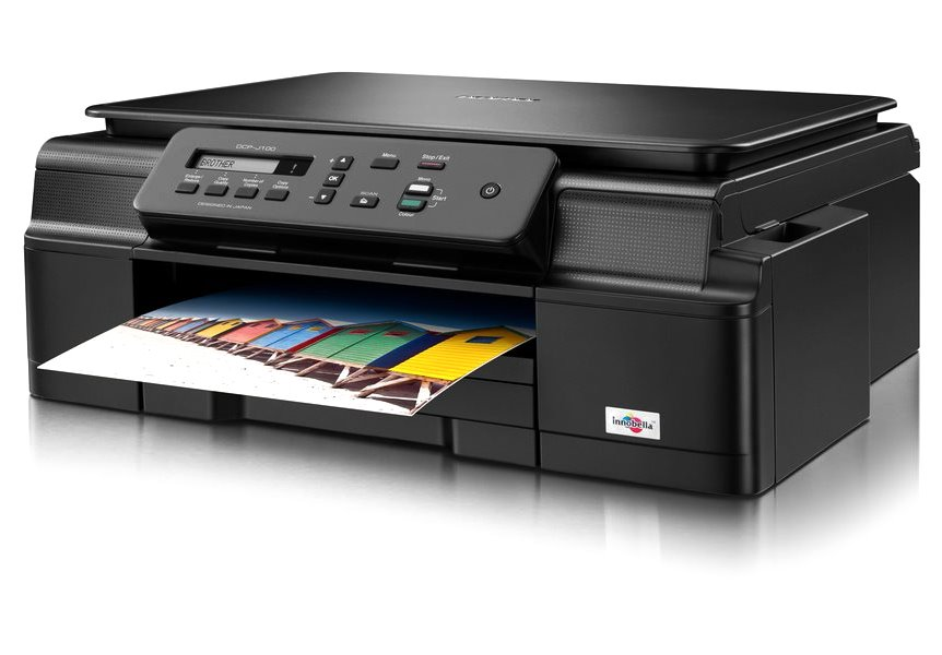 Multifunkční tiskárna Brother DCP-J105 Barevná multifunkční inkoustová tiskárna, A4, GDI, 6000x1200 dpi, 64 MB, LCD, barevná, print, copy, scan, USB, Wi-Fi DCPJ105YJ1