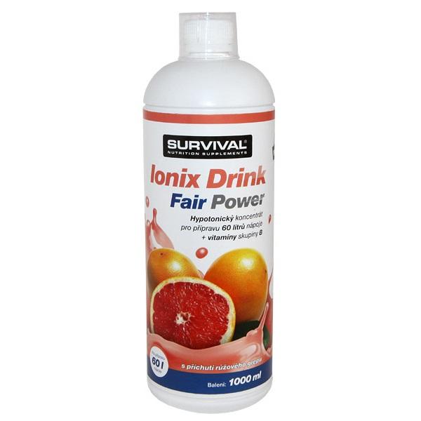 Doplněk stravy SURVIVAL Ionix grep 1000 ml Doplněk stravy, sportovní nápoj, grep, 1000 ml 8594056371099
