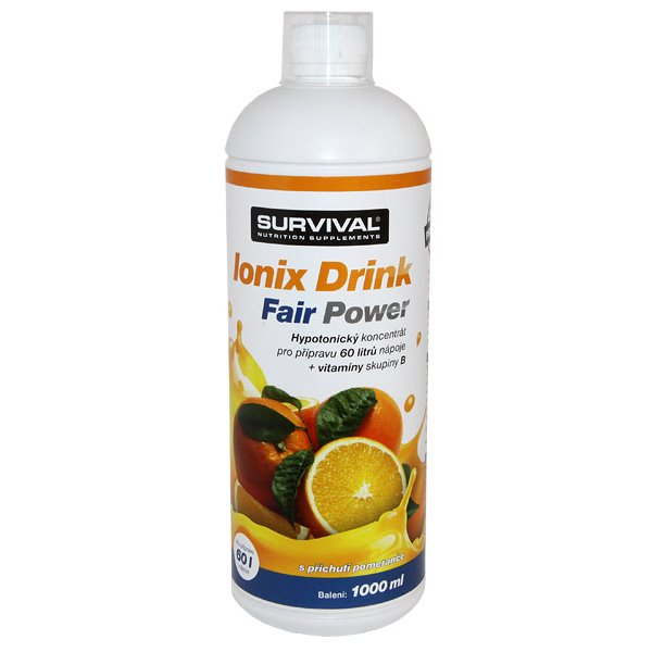 Doplněk stravy SURVIVAL Ionix pomeranč 1000 ml Doplněk stravy, sportovní nápoj, pomeranč, 1000 ml 8594056371099