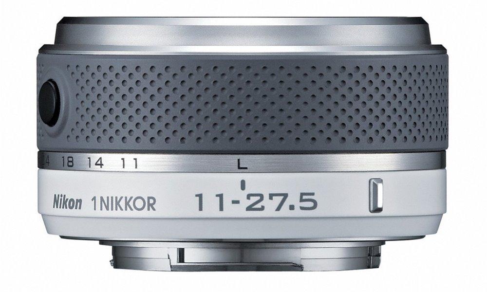 Objektiv Nikon 1 NIKKOR 11 - 27,5 mm f/3,5-5,6 Objektiv, 11 - 27,5 mm, f/3,5-5,6, bílý JVA704DB