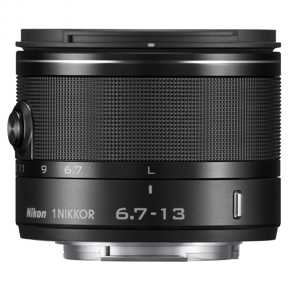 Objektiv Nikon 1 NIKKOR 6,7 - 13 mm f/3,5-5,6 VR Objektiv, 6,7 - 13 mm, f/3,5-5,6, VR, černý JVA706DA