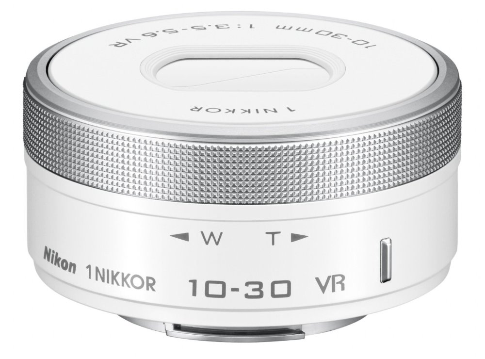 Objektiv Nikon 1 NIKKOR VR 10-30mm f/3,5-5,6G PD Objektiv, 10 - 30 mm, f/3,5-5,6G, VR, PD, zoom, bílý JVA707DB