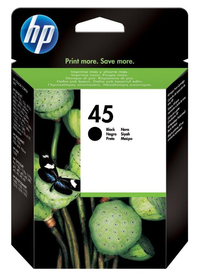 Cartridge inkoustová náplň HP 45 HP 51645A - ink. černá, DJ 7x,8x,9x,11x,12x 51645AE