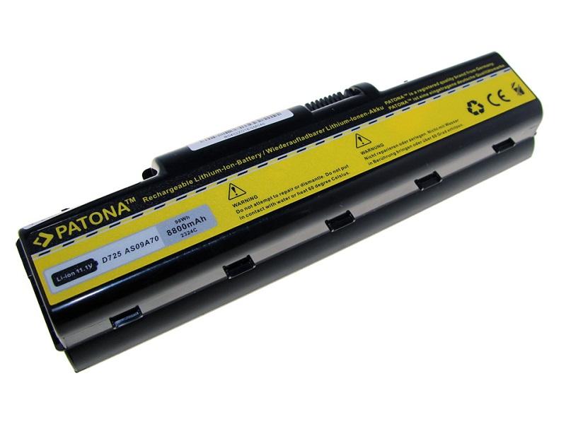Baterie PATONA kompatibilní s Acer Aspire AS09A31 Baterie, pro notebook, 8800mAh, Li-Ion, 11,1V PT2324