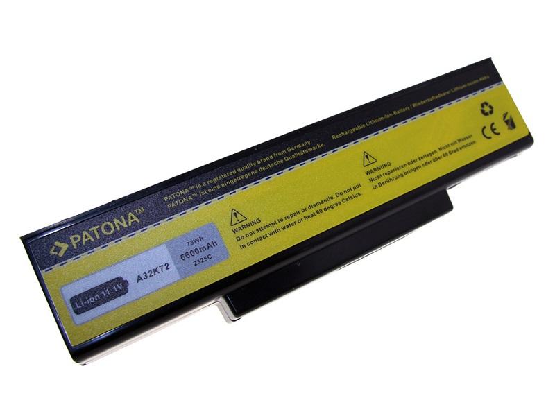 Baterie PATONA kompatibilní s Asus A32-K72 Baterie, pro notebook, 6600mAh, Li-Ion, 11,1V PT2325