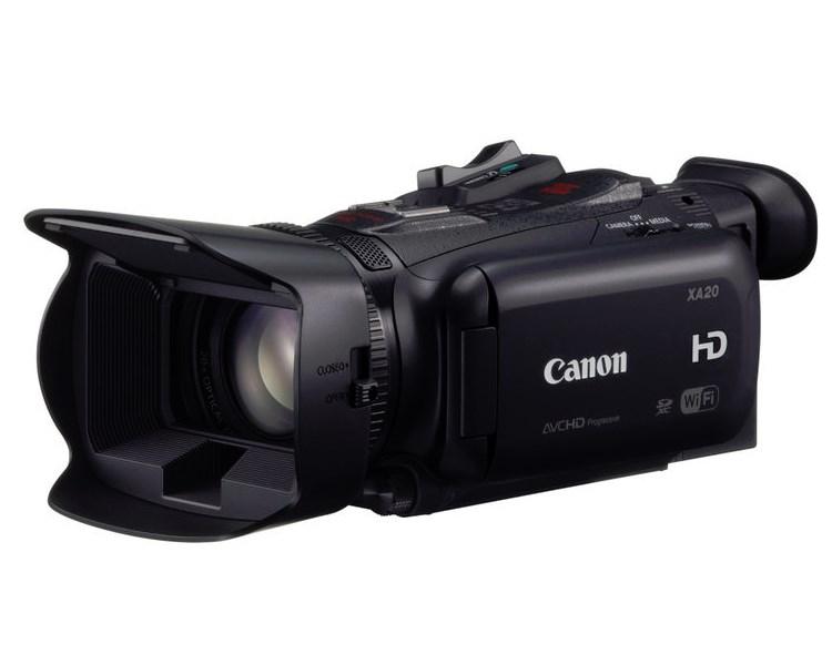 Videokamera Canon XA-20 FULL HD Videokamera, 20x zoom, 3,5 LCD, SDXC, Wi-Fi, Černá 8453B009AA