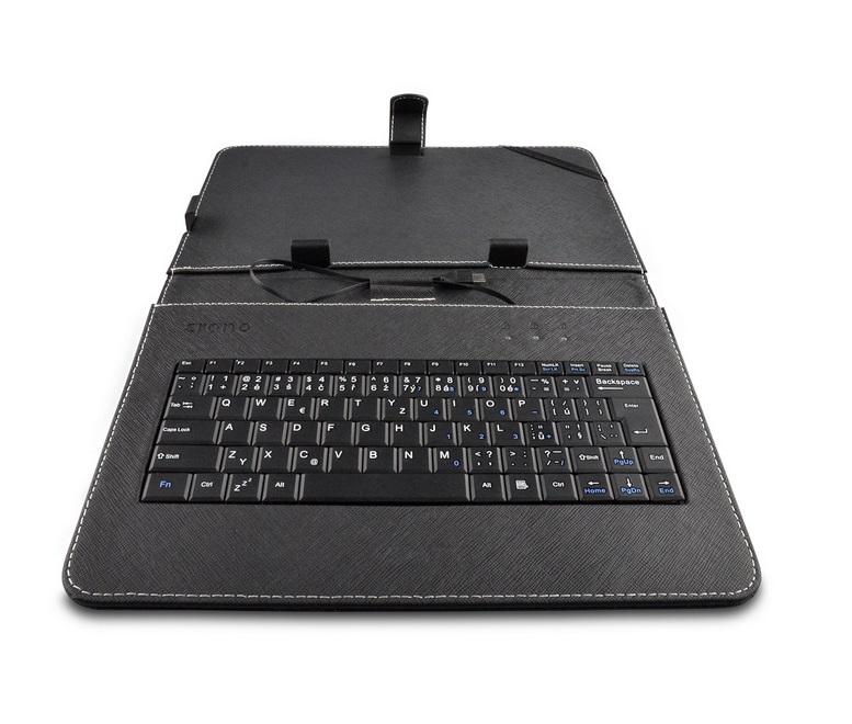 Pouzdro s klávesnicí CRONO CK2011 Pouzdro, s klávesnicí, pro 10,1, pro tablety, CZ layout, micro USB, hnědočerné CK2011