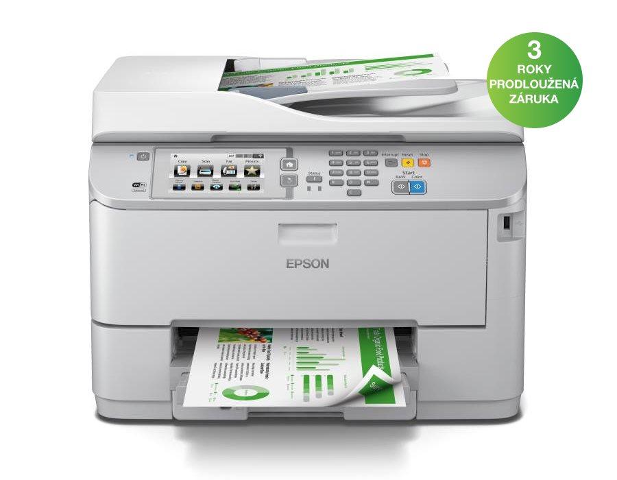Multifunkční tiskárna EPSON WF-5690DWF Barevná multifunkční inkoustová tiskárna, A4, 34ppm, 4800x1200dpi, 4 barvy, ADF, Duplex, LCD, Fax, Síť, Wi-Fi, USB C11CD14301