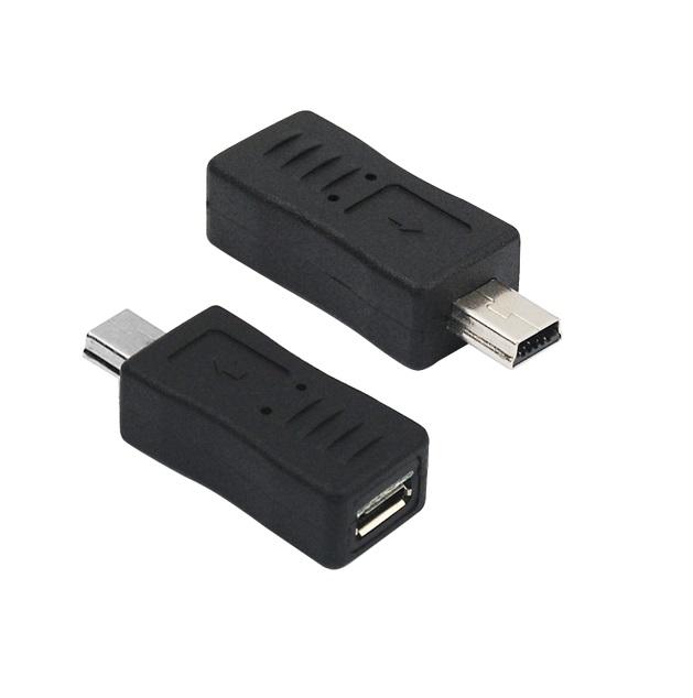 Redukce OEM USB mini B na USB micro B černá Redukce, USB 2.0 mini B M - USB 2.0 micro B F, černá POVT0458