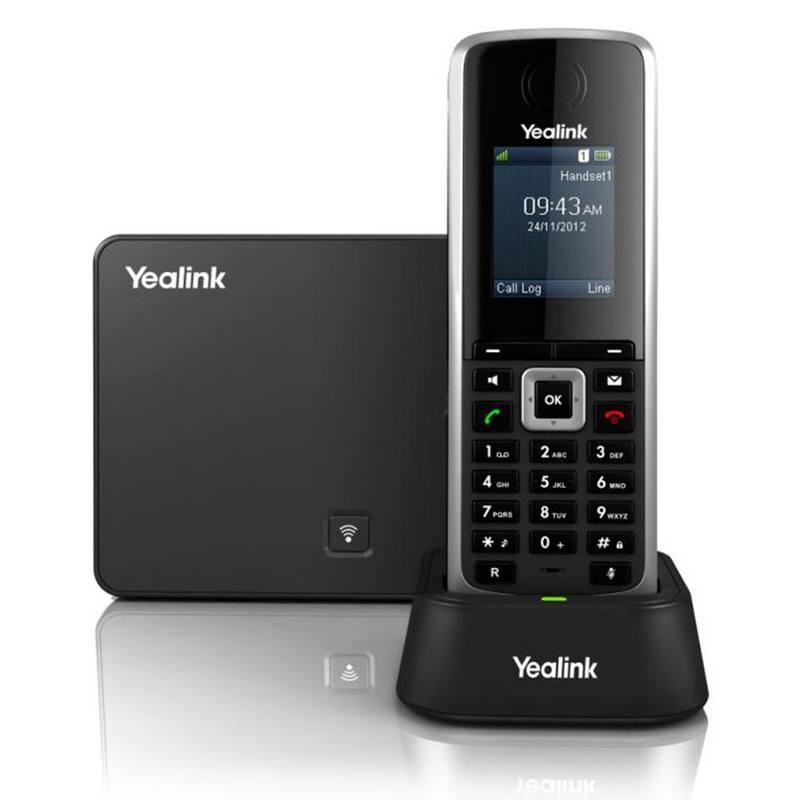 Bezdrátový telefon Yealink SIP-W52P Bezdrátový telefon, PoE IP DECT, černý 310A546