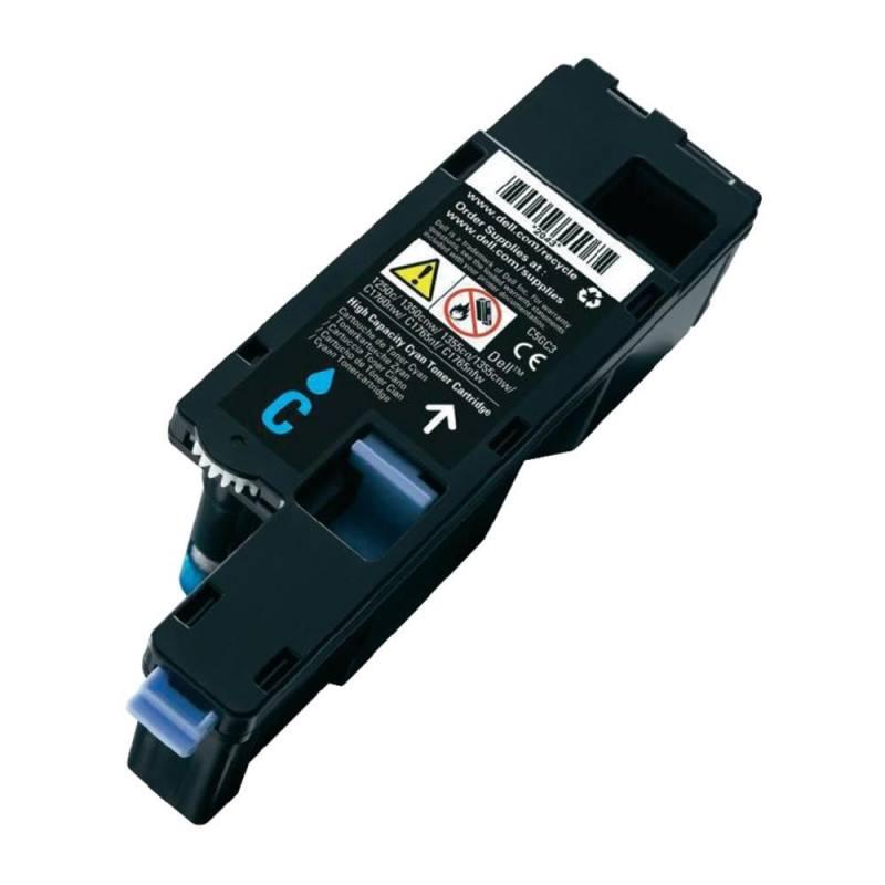 Toner Dell modrý Toner pro Dell 1250c, 1350cnw, 1355cn, 1355cnw, C1760nw, C1765nf, C1760nw, výdrž 1400 stran 593-11141
