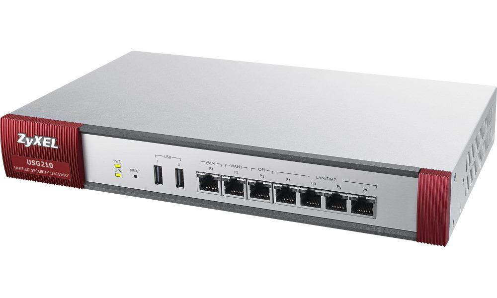 Firewall ZyXEL ZyWALL USG210 UTM Bundle Firewall, s UTM Bundle, VPN: 200x IPSec/ 50x SSL 10 default, bezpečnostní balíček součástí USG210-EU0102F
