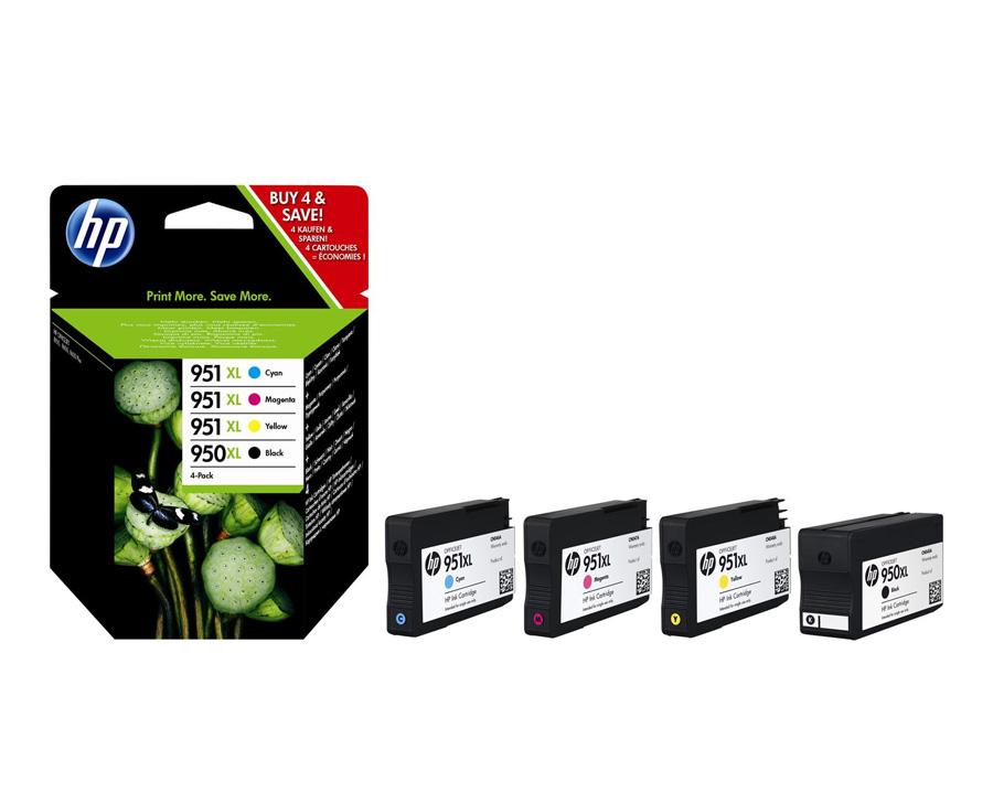 Inkoustová cartridge HP 950XL/951XL Combo Pack Sada inkoustových náplní pro HP Officejet Pro 251dw, 276dw, 8100, 8600, 8600 C2P43AE