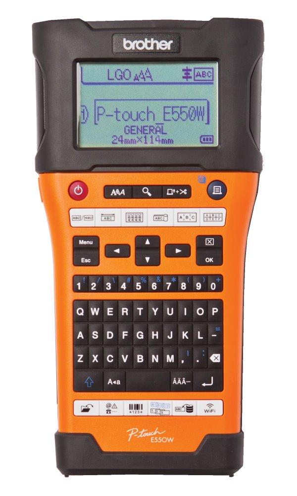BROTHER tiskárna samolepících štítků PT-E550WVP/ 180 dpi/ LCD/ USB/ Wi-Fi/ kufr