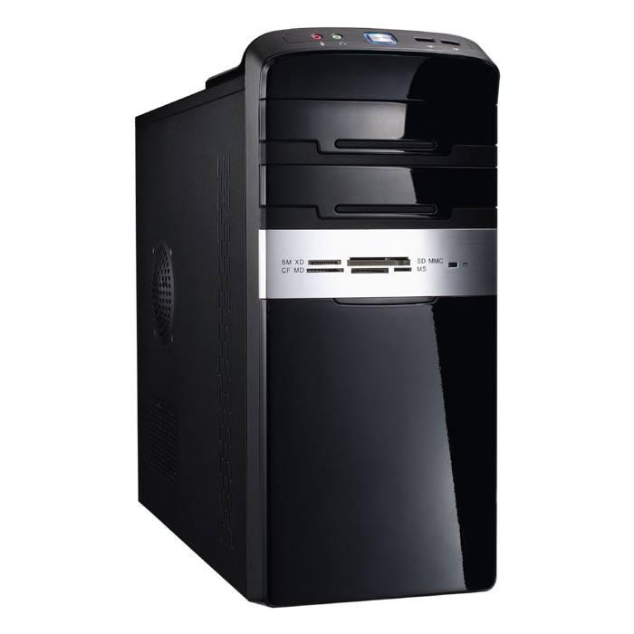Skříň EUROCASE MC 47 EVO PC skříň, bez zdroje, Micro Tower, čtečka karet, černá lesklá MC47BCR00-EVO