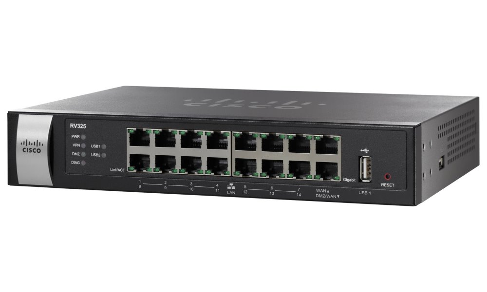 Router Cisco Small Business RV325 Router, dual WAN, 4 x LAN, NAT, IPSec RV325-K9-G5
