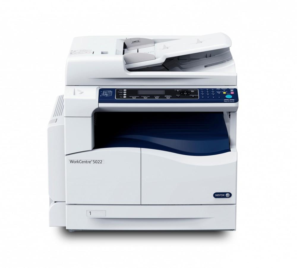 Multifunkční tiskárna Xerox WorkCentre 5022V_U Černobílá multifunkční laserová tiskárna, A3, 22ppm, 256mb, USB, DADF, Duplex 5022V_U