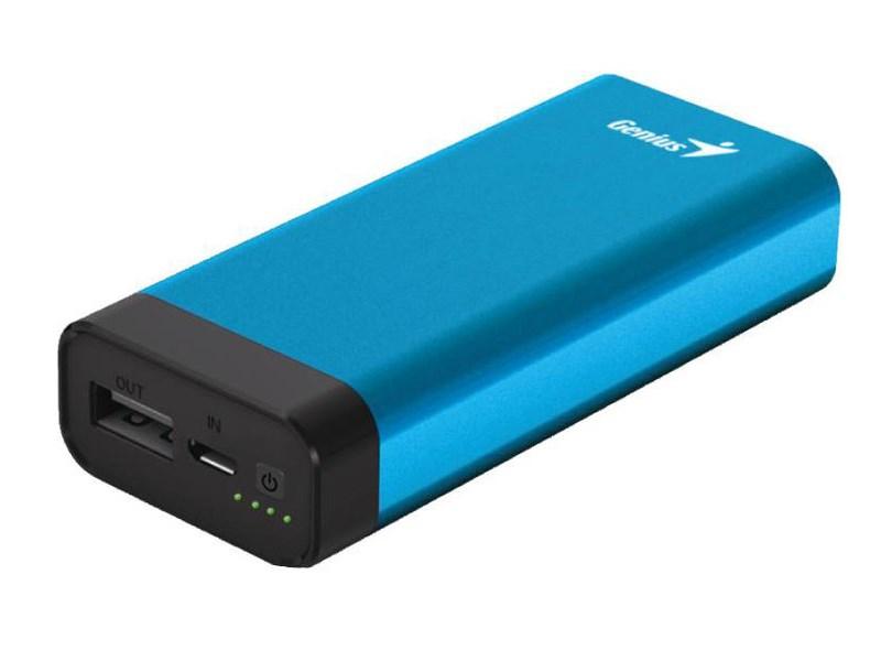 Мобильный аккумулятор genius eco-u628 li-pol 6000mah 15a+21a синий 2xusb