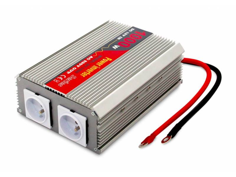 Měnič napětí Eurocase AC/DC 12V/230V/ 1000W Měnič napětí, 2 x zásuvka, 12VDC, 230V, 1000W