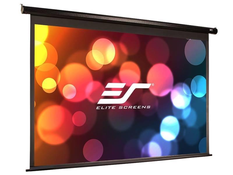 Projekční plátno ELITE SCREENS Electric110H 110 Projekční plátno, elektrické motorové, 110 279,4 cm, 16:9, 137,2 x 244 cm, Gain 1,1, case černý ELECTRIC110H