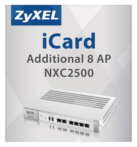 Licence ZyXEL E-icard 8 Access Point Licence, pro 8 AP Licence, pro kontroler ZyXEL NXC2500, maximální počet je 24AP LIC-AP-ZZ0003F