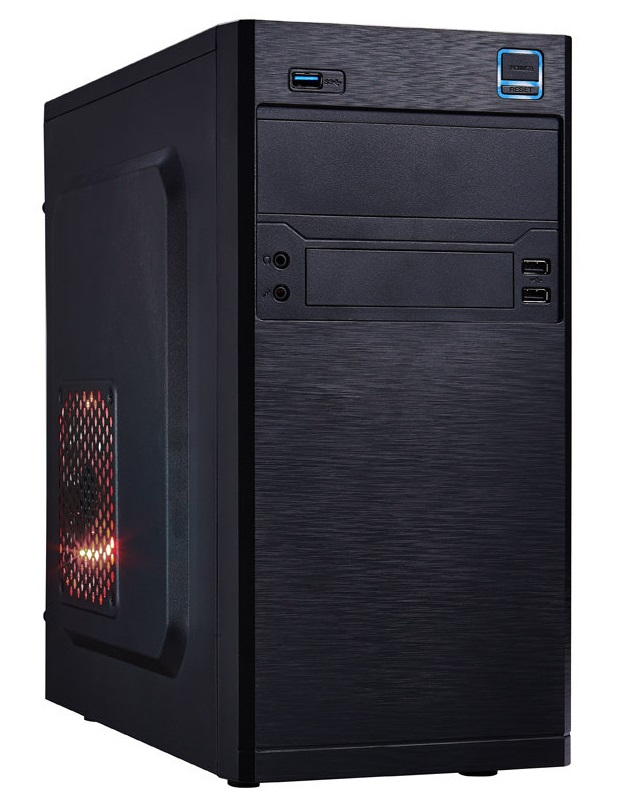 Skříň EUROCASE MC X202 PC skříň, micro tower, bez zdroje, 2xUSB 2.0, 1xUSB 3.0, černá MCX202B00