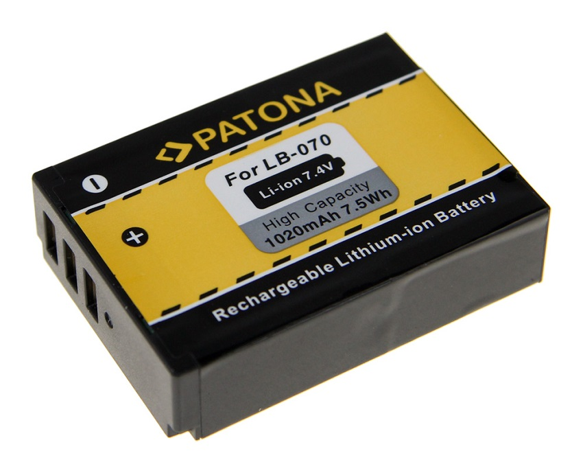 Baterie PATONA kompatibilní s Kodak LB-070 Baterie, pro fotoaparát, 1020mAh, Li-Ion PT1227