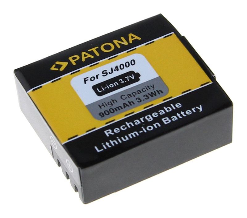 Baterie PATONA kompatibilní s Rollei ActionCam 350 Baterie, pro videokameru, 900mAh, Li-Ion