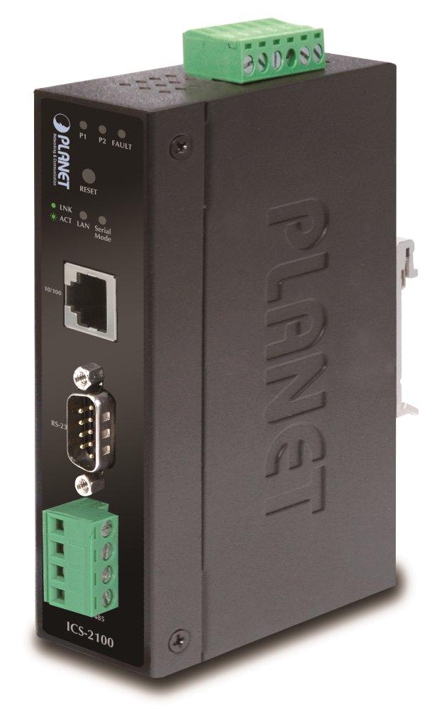 Konvertor PLANET ICS-2100 Konvertor, 1x RS232/422/485 na 1x 10/100 RJ-45, -10 +60°C