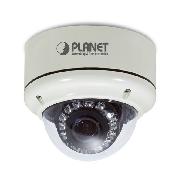IP kamera PLANET ICA-5350V IP kamera, venkovní, 3 Mpix dome, Sony 3-9 F1.2, PoE, IR Cut, Audio, SD ICA-5350V