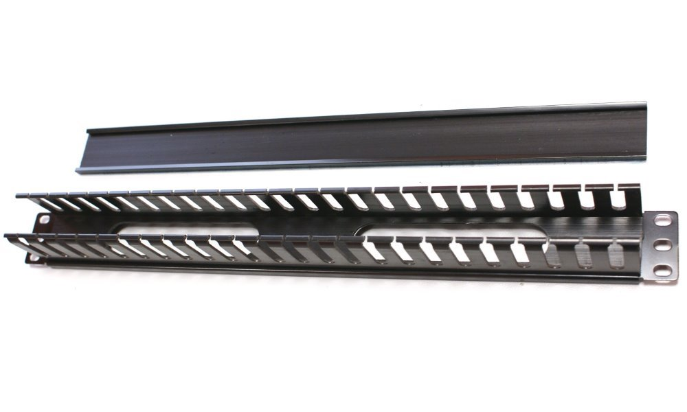 Optický vyvazovací panel Triton RAB-VP-X04-A1 Optický vyvazovací panel, 19 2U jednostranná plast. lišta BK RAB-VP-X04-A1