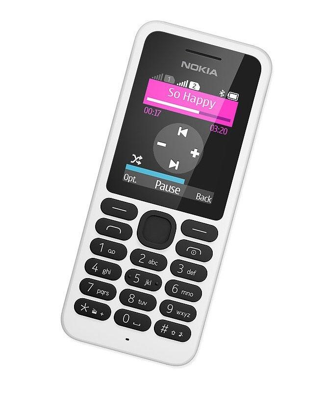 Mobilní telefon Nokia 130 Dual SIM bílá Mobilní telefon, 1,8 displej, Bluetooth, bílá barva A00021158
