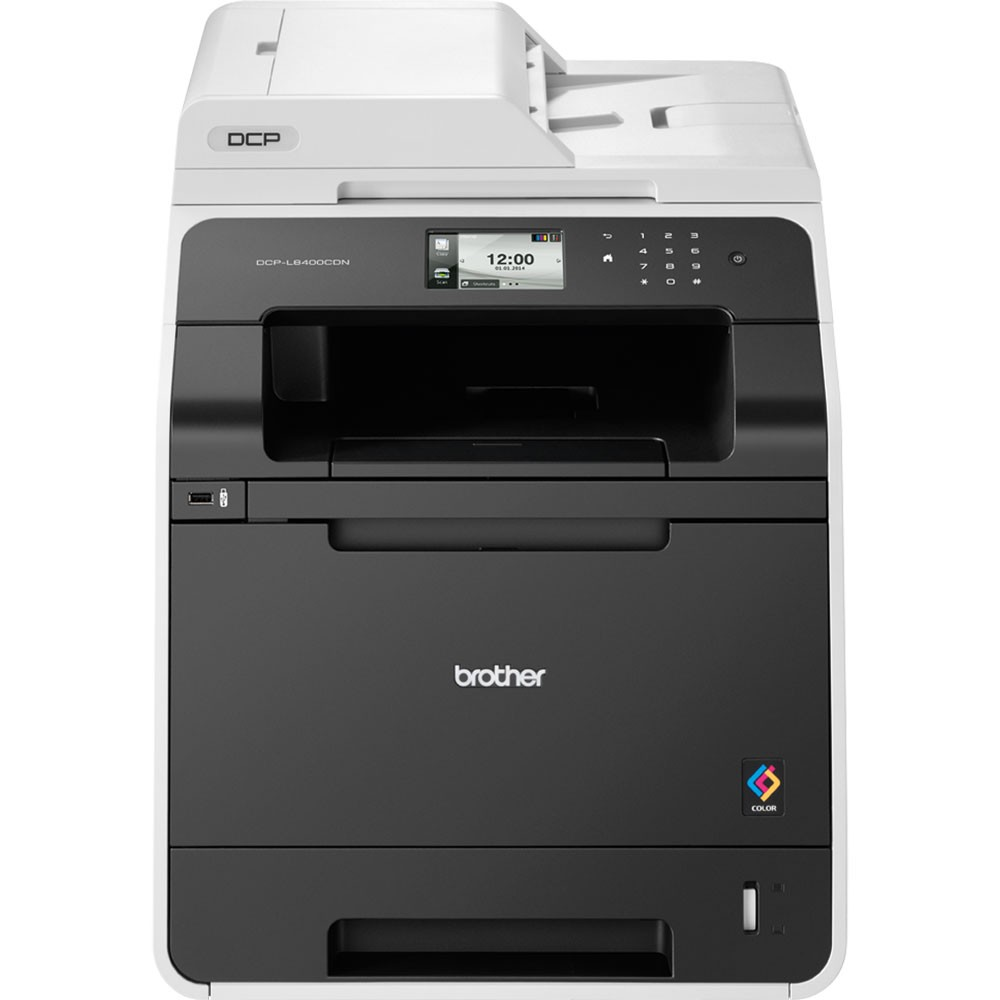 Multifunkční tiskárna BROTHER DCP-L8400CDN Barevná multifunkční laserová tiskárna, A4, PCL6, 2400x600 dpi, 256MB, LCD, duplex, ADF, print, copy, scan, USB, Síť DCPL8400CDNYJ1
