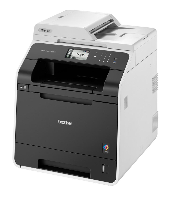 Multifunkční tiskárna BROTHER MFC-L8650CDW Barevná multifunkční laserová tiskárna, A4, PCL6, 2400x600 dpi, 256MB, LCD, duplex, ADF, print, copy, scan, fax, USB, Síť, Wi-Fi MFCL8650CDWYJ1
