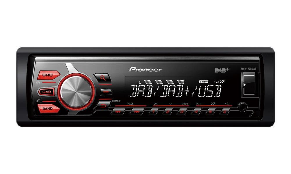 Autorádio PIONEER MVH-270DAB Autorádio, D4Q RDS FM tuner, USB, MP3, WMA,WAV, iPod podpora, 4 x 50W MVH-270DAB