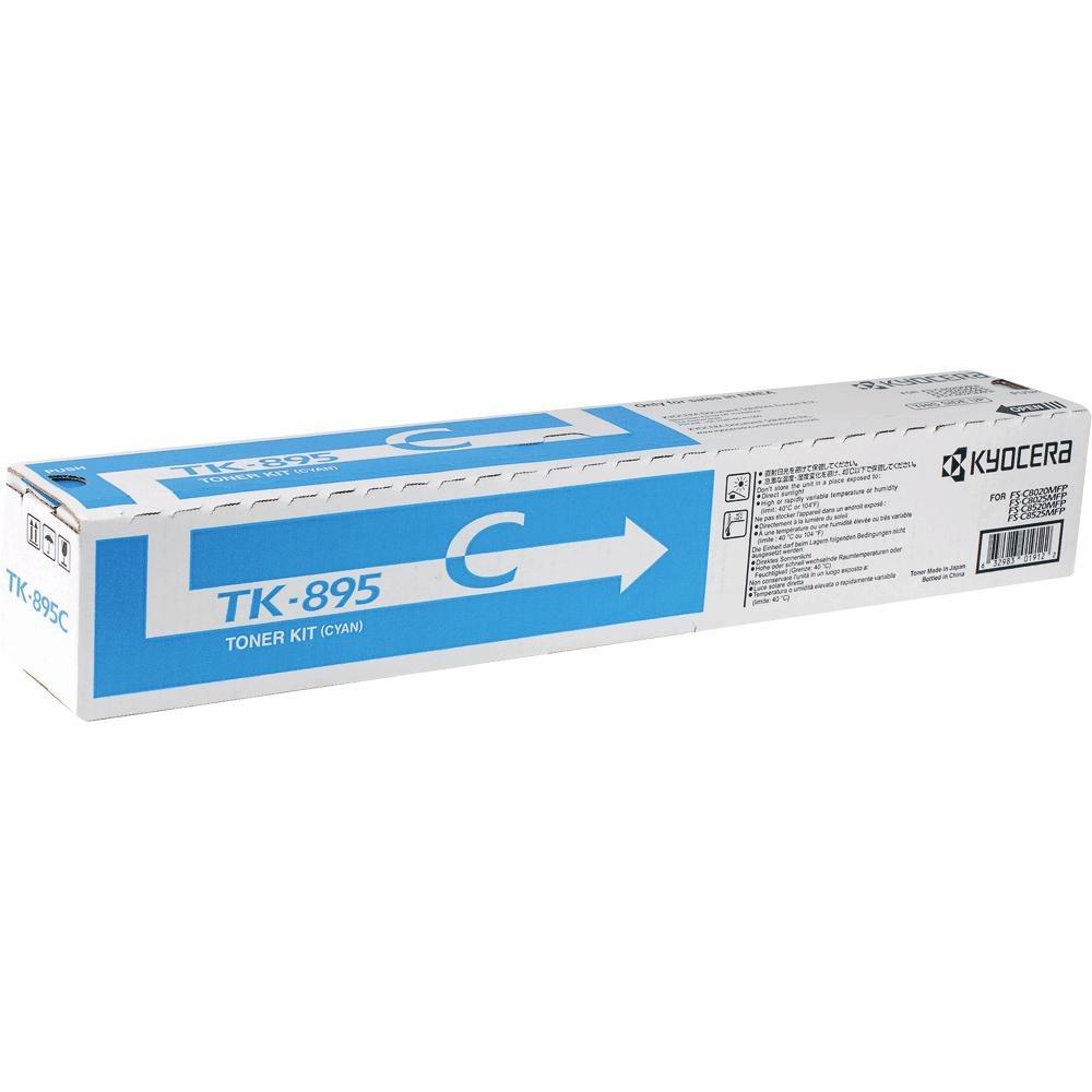 Toner Kyocera TK-895C modrý Toner, pro Kyocera FS-802x, 6 000 stran, modrý TK-895C